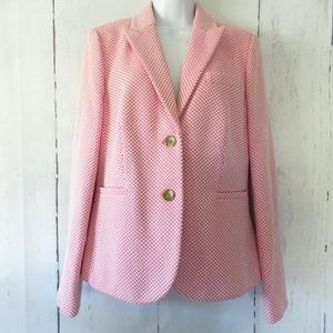 Boden Blazer Tweed Work Career Suit Preppy